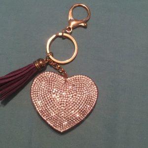 Purple purse or keychain charm